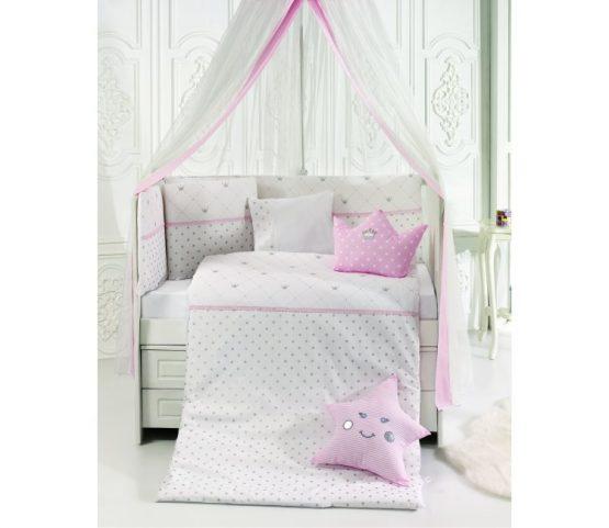 ABO Queens Crown Pink Σετ Προίκας Μωρού 9 τμχ