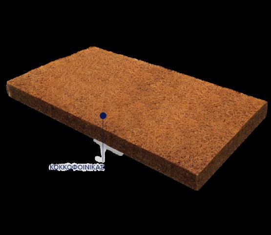 Grecostrom βρεφικό στρώμα Ιόλη κοκοφοίνικας με ύφασμα ζακαρ βαμβακερο  70×140 cm